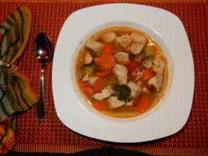 Salsa chciken vegetable soup (1)